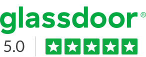 Glassdoor logo and star rating